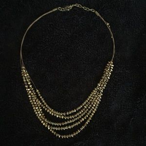 Coldwater Creek gold beaded necklace